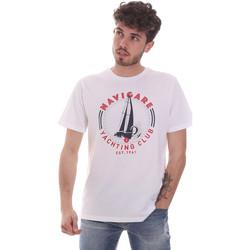 tekstylia Męskie T-shirty z krótkim rękawem Navigare NV31113 Biały