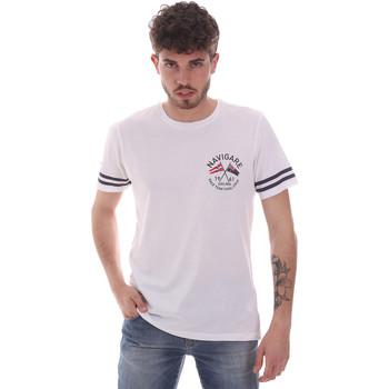tekstylia Męskie T-shirty z krótkim rękawem Navigare NV31123 Biały