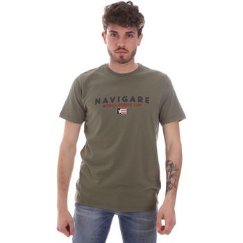 tekstylia Męskie T-shirty z krótkim rękawem Navigare NV31139 Zielony