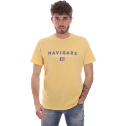 tekstylia Męskie T-shirty z krótkim rękawem Navigare NV31139 Żółty