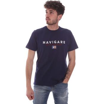 tekstylia Męskie T-shirty z krótkim rękawem Navigare NV31139 Niebieski