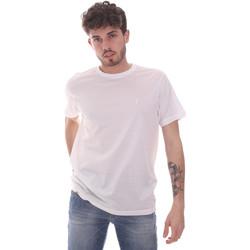 tekstylia Męskie T-shirty z krótkim rękawem Navigare NV71003 Biały