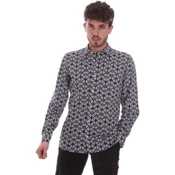tekstylia Męskie Koszule z długim rękawem Antony Morato MMSL00614 FA430480 Czarny