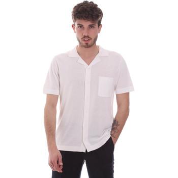 tekstylia Męskie Koszule z krótkim rękawem Antony Morato MMSW01183 YA100063 Biały