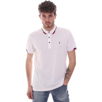 tekstylia Męskie Koszulki polo z krótkim rękawem Navigare NV82113 Biały