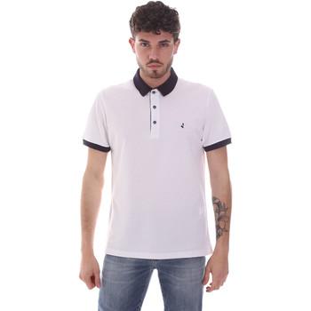 tekstylia Męskie Koszulki polo z krótkim rękawem Navigare NV82124 Biały