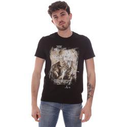 tekstylia Męskie T-shirty z krótkim rękawem Gaudi 111GU64091 Czarny