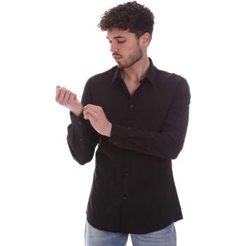tekstylia Męskie Koszule z długim rękawem Gaudi 111GU45001 Czarny