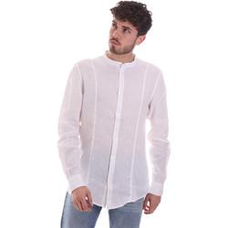 tekstylia Męskie Koszule z długim rękawem Gaudi 111GU45006 Biały