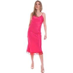 tekstylia Damskie Sukienki krótkie Cristinaeffe 0731 2475 Różowy