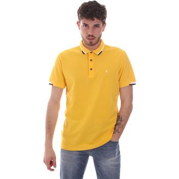 tekstylia Męskie Koszulki polo z krótkim rękawem Navigare NV82113 Żółty