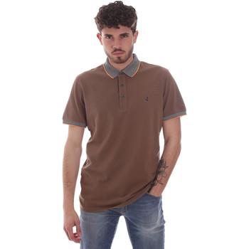 tekstylia Męskie Koszulki polo z krótkim rękawem Navigare NV82125 Brązowy