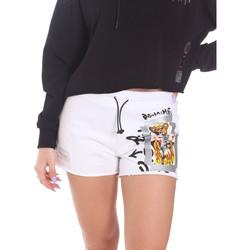 tekstylia Damskie Szorty i Bermudy Disclaimer 21EDS50650 Biały