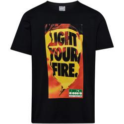 tekstylia Męskie T-shirty z krótkim rękawem Diadora 502175837 Czarny