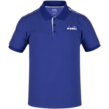 tekstylia Męskie Koszulki polo z krótkim rękawem Diadora 102175672 Niebieski