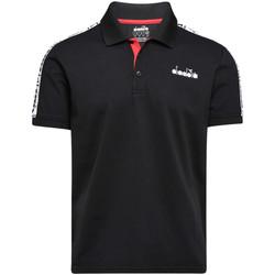 tekstylia Męskie Koszulki polo z krótkim rękawem Diadora 102175672 Czarny
