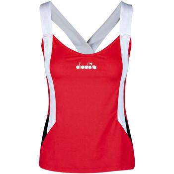 tekstylia Damskie Topy na ramiączkach / T-shirty bez rękawów Diadora 102175658 Czerwony