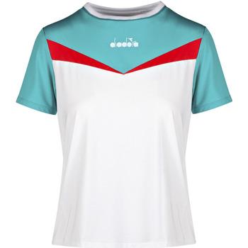 tekstylia Damskie T-shirty z krótkim rękawem Diadora 102175659 Biały