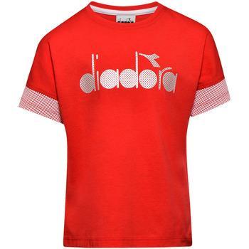 tekstylia Dziecko T-shirty z krótkim rękawem Diadora 102175914 Czerwony