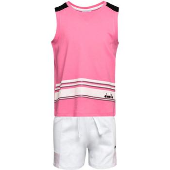 tekstylia Dziecko Komplet Diadora 102175915 Różowy