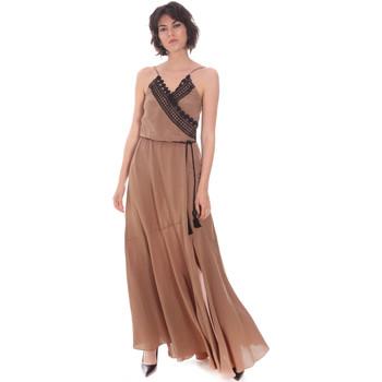 tekstylia Damskie Sukienki długie Cristinaeffe 0704 2498 Beżowy