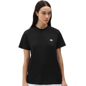 tekstylia Damskie T-shirty z krótkim rękawem Dickies DK0A4XDABLK1 Czarny