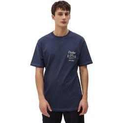 tekstylia Męskie T-shirty z krótkim rękawem Dickies DK0A4X9NNV01 Niebieski