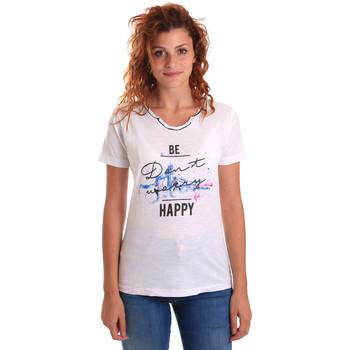 tekstylia Damskie T-shirty z krótkim rękawem Key Up 5G63S 0001 Biały