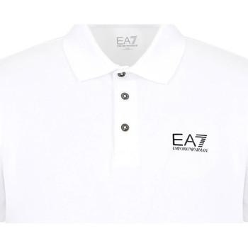 tekstylia Męskie Koszulki polo z krótkim rękawem Ea7 Emporio Armani 8NPF04 PJM5Z Biały