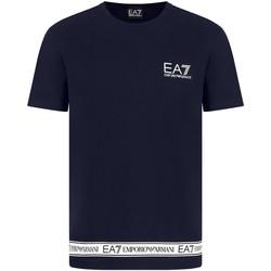 tekstylia Męskie T-shirty z krótkim rękawem Ea7 Emporio Armani 3KPT05 PJ03Z Niebieski