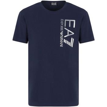 tekstylia Męskie T-shirty z krótkim rękawem Ea7 Emporio Armani 3KPT10 PJ7RZ Niebieski