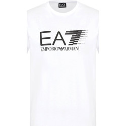 tekstylia Męskie T-shirty z krótkim rękawem Ea7 Emporio Armani 3KPT39 PJ02Z Biały