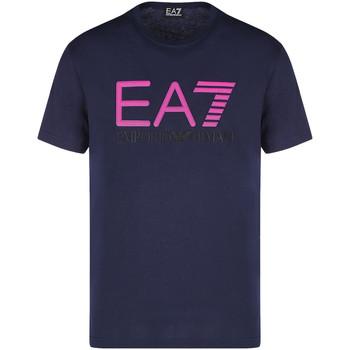 tekstylia Męskie T-shirty z krótkim rękawem Ea7 Emporio Armani 3KPT78 PJACZ Niebieski