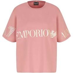 tekstylia Damskie T-shirty z krótkim rękawem Ea7 Emporio Armani 3KTT18 TJ29Z Różowy