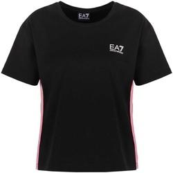 tekstylia Damskie T-shirty z krótkim rękawem Ea7 Emporio Armani 3KTT21 TJ29Z Czarny