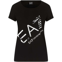 tekstylia Damskie T-shirty z krótkim rękawem Ea7 Emporio Armani 3KTT28 TJ12Z Czarny