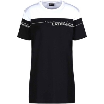 tekstylia Damskie T-shirty z krótkim rękawem Ea7 Emporio Armani 3KTT59 TJBEZ Czarny