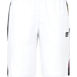 tekstylia Męskie Kostiumy / Szorty kąpielowe Ea7 Emporio Armani 3KPS81 PJ05Z Biały