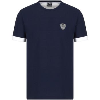 tekstylia Męskie T-shirty z krótkim rękawem Ea7 Emporio Armani 3KPT56 PJ4MZ Niebieski