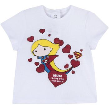 tekstylia Dziewczynka T-shirty z krótkim rękawem Chicco 09067360000000 Biały