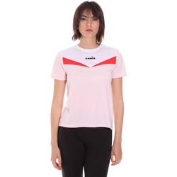 tekstylia Damskie T-shirty z krótkim rękawem Diadora 102175659 Różowy