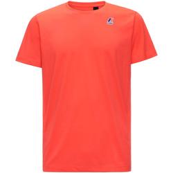 tekstylia Męskie T-shirty z krótkim rękawem K-Way K007JE0 Czerwony