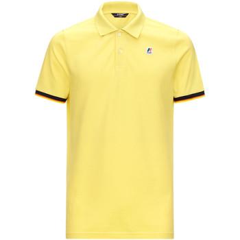 tekstylia Męskie Koszulki polo z krótkim rękawem K-Way K008J50 Żółty