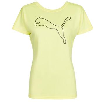 tekstylia Damskie T-shirty z krótkim rękawem Puma RECYCL JERSY CAT TEE Żółty