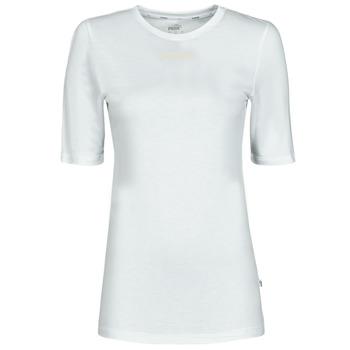 tekstylia Damskie T-shirty z krótkim rękawem Puma MBASIC TEE Biały