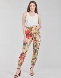 tekstylia Damskie Spodnie z lejącej tkaniny / Alladynki Desigual TOUCHE Wielokolorowy