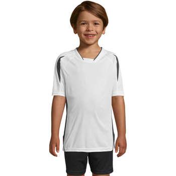 tekstylia Dziecko T-shirty z krótkim rękawem Sols Maracana - CAMISETA NIÑO MANGA CORTA Blanco