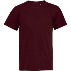 tekstylia Dziecko T-shirty z krótkim rękawem Sols Camiseta de niño con cuello redondo Burdeo