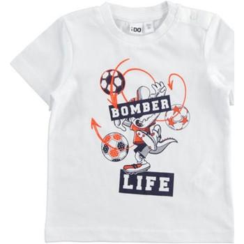 tekstylia Chłopiec T-shirty z krótkim rękawem Ido 42041 Biały