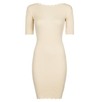 tekstylia Damskie Sukienki krótkie Yurban PAULINO Beżowy